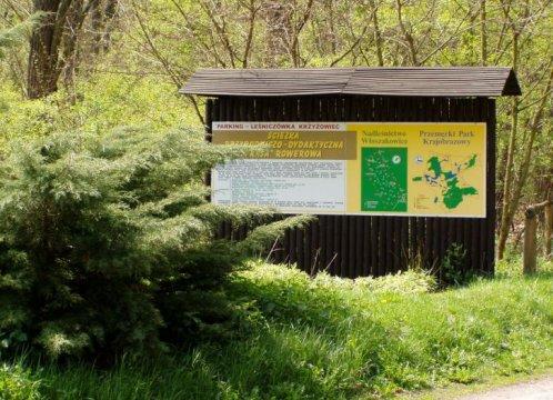 Herb Krzyżowiec ścieżka przyrodniczo-edukacyjna