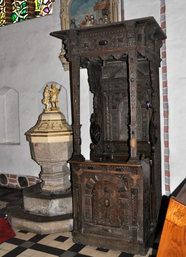 Tron biskupi w kościele pw. św. Wawrzyńca w Słupcy