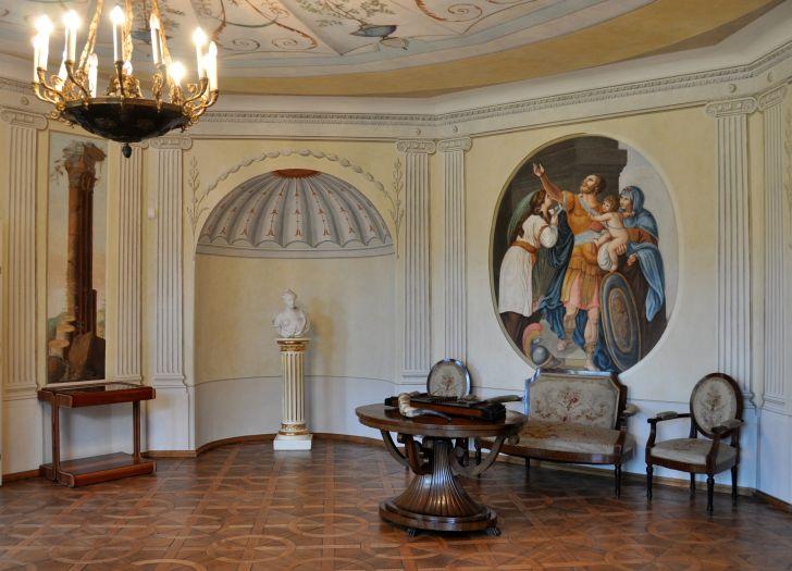 Fragment ekspozycji muzealnej w Śmiełowie