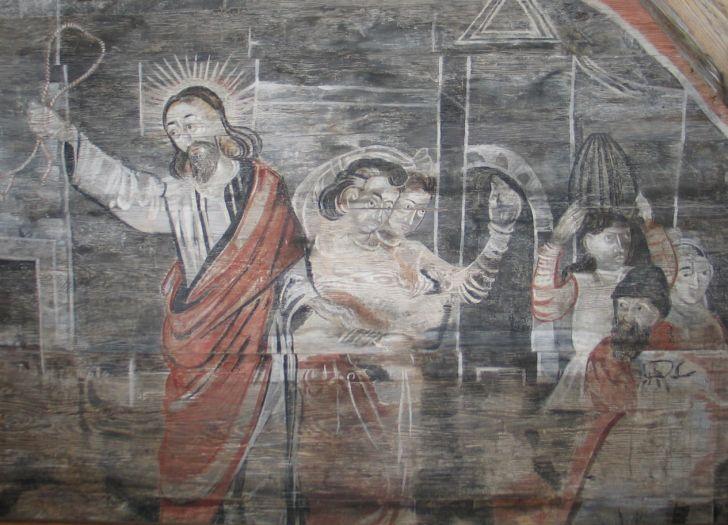 Fragment polichromii w kościele pw. św. Mikołaja w Tarnowie Pałuckim