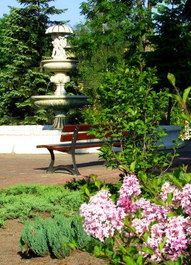 W parku w Obornikach