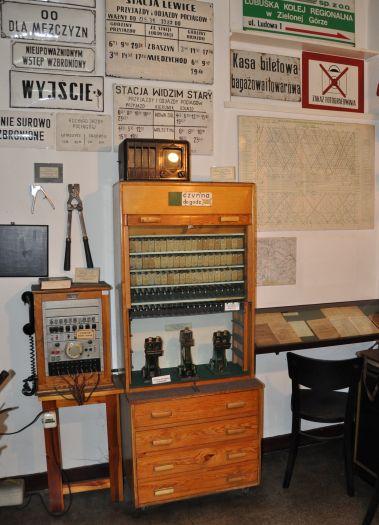 Fragment ekspozycji muzealnej w Parowozowni w Wolsztynie