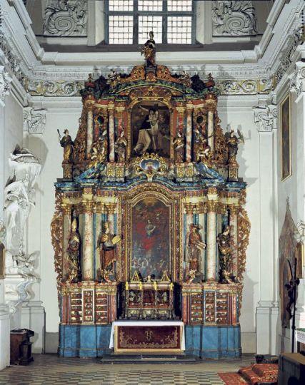 Ołtarz relikwiarz św. Urszuli w Lądzie