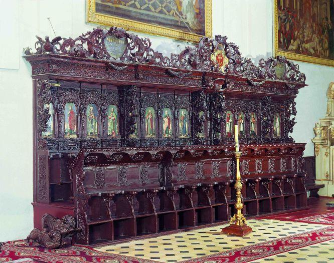 Stalle w kościele pocysterskim w Lądzie