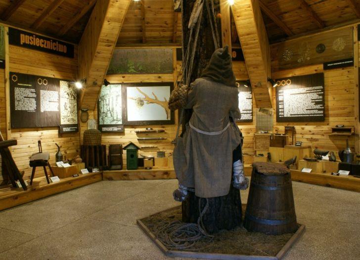 Fragment ekspozycji muzealnej w Szreniawie