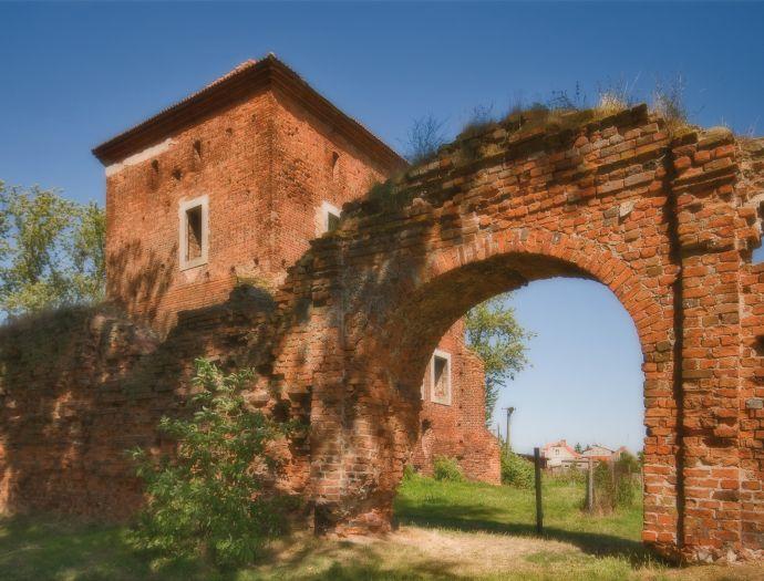 Ruiny zamku w Gołańczy