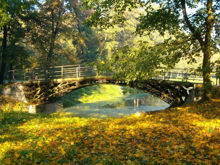Żeliwny mostek z 1824 r. w opatowskim parku w Opatówku